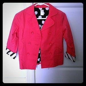 Bright pink childrens blazer